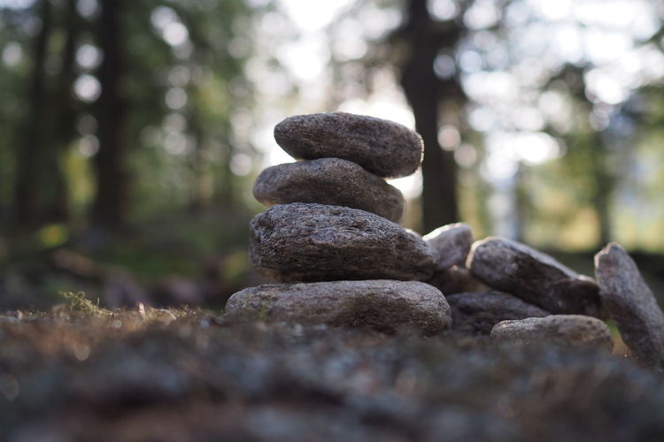 Stone figure in the forest of merano Copy Space Hiking Alps Balance Beauty In Nature Close-up Day Focus On Foreground Forest Forrest Hikingadventures Nature No People Outdoors Rock - Object Stone Figure Stones Trail Tranquility