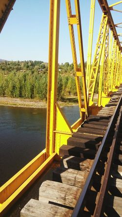 Yellow Railing Sky Playground Outdoors No People Day Beauty In Nature Mountain Non-urban Scene Train Tranquility Beautiful People Good Pic People Like Likeforlikes