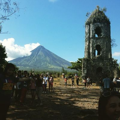 Nice view of Mayon Volcano 😁👍👌🌋☁⛪ Morefuninthephilippines Travelph