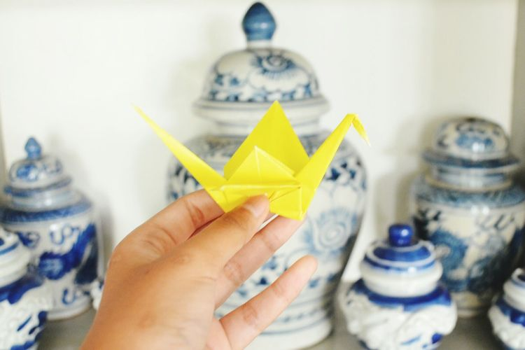 my Wishing for this month by paper crane Micro Photograph Bestshot EyeEm
