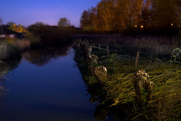 Go-west-photography.com Niendorf, Ostsee Timmendorfer Strand Nightphotography Nightlife Reflection Reflections In The Water Water Sky Night Nature No People Outdoors Tranquility Tranquil Scene Tree Plant Lake Scenics - Nature Landscape Land Grass Environment Non-urban Scene