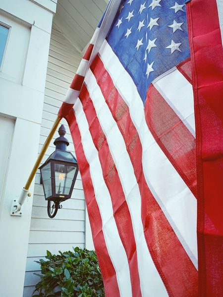 """""""Freedom's Flame Burns Forever"""" Flame Red, White And Blue United States Freedom American America Flag Patriotism"""