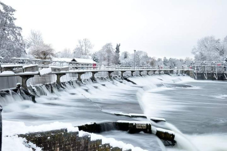 Water River Hydroelectric Power Winter Just Chillin' This Is Me..... Thisismyworld Outdoors No People Winter Snow Snowing Weir Fast Water Flows