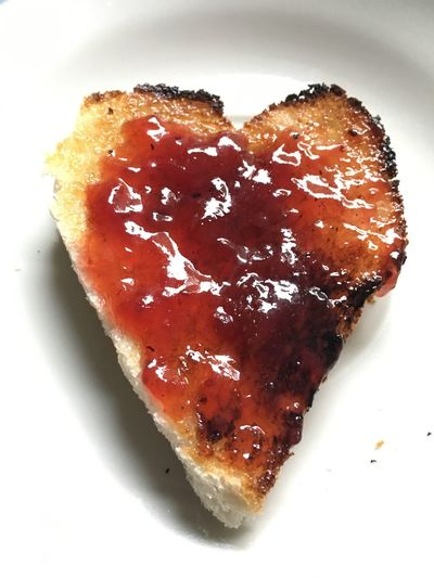 Toast🍞 Food Sweet Food Toasted Bread Food And Drink Heart Shape Ready-to-eat Bread Freshness Breakfast Herz Marmelade