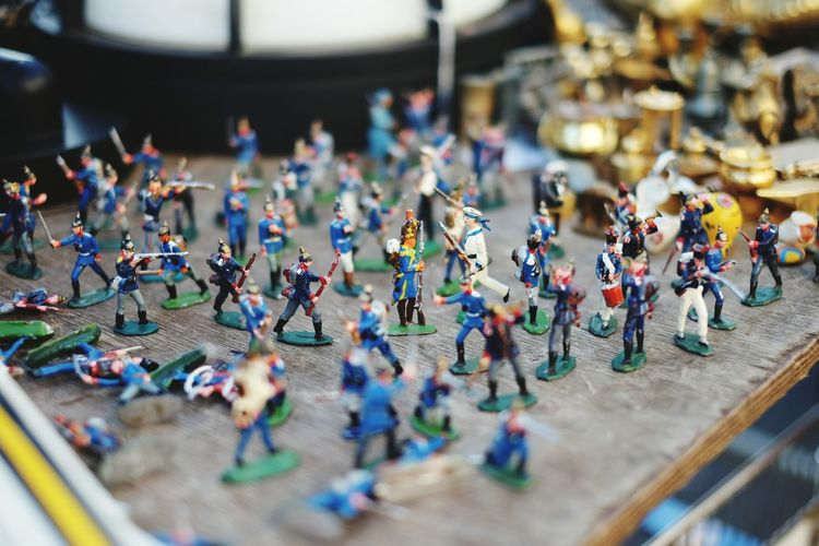 Toy soldiers for sale in market