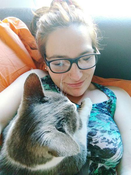 Pets Day One Animal One Person Gato😽 Bonito