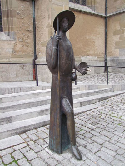 Bronze Statue outside St Jacobs Church Art Bronze Statue Close-up Composition Creativity Full Frame Germany Human Representation Modern No People Outdoor Photography Religious Art Religious Place Rothenburg Sculpture Tourism Tourist Attraction  Tourist Destination Unusual