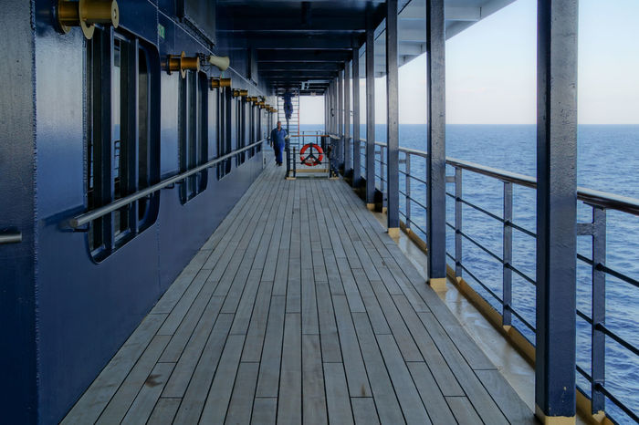 Architecture Built_Structure Cruise Cruise Ship Diminishing Perspective Distant Horizon Over Water Kreuzfahrt Kreuzfahrtschiff Railing Scenics Sea Ship Sky The Way Forward Tourism Tranquil Scene Tranquility Vacations Water Let's Go. Together. Sommergefühle