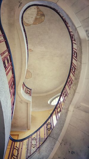 Taking Photos Absence Ruined Staircase Stairs Lines, Shapes And Curves Abandoned Old No People Indoors  Built Structure Once Upon A Time Bad Condition Architecture Metal Obsolete EyeEm Gallery Empty Spaces Perspective Pattern