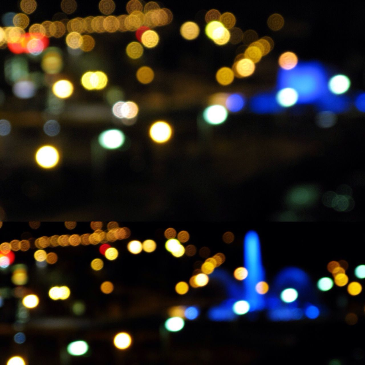 illuminated, night, defocused, lighting equipment, glowing, fairy lights, light effect, christmas lights, no people, light bulb, focus on foreground, vehicle light, multi colored, electricity, outdoors, christmas decoration, close-up