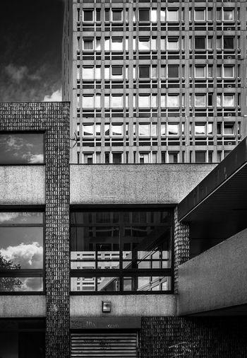 Architecture Belleville Building Exterior Façade Monochrome Outdoors Paris