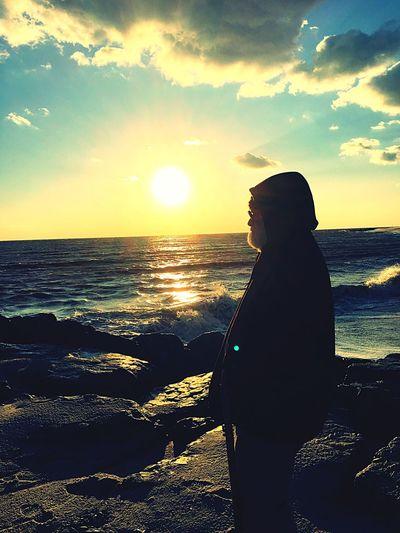 Beautiful Cape May, NJ Sunset Beach Jetty