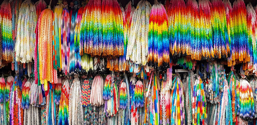 Full frame shot of multi colored hanging for sale