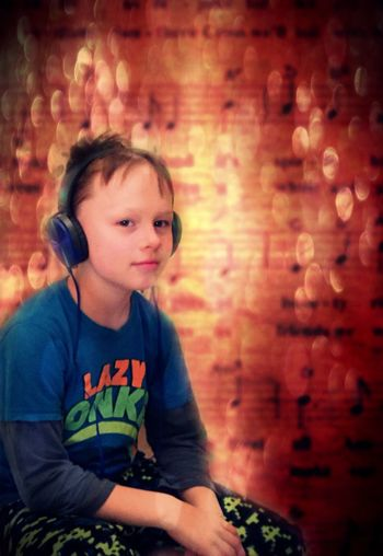 Youth Of Today Boy With Headphones Music Child Listening To Music Cool Boy