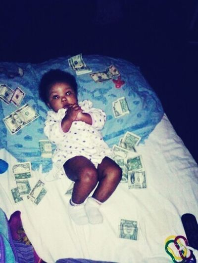 Zymireya say she makes it rain too!!! 4 months today Daddys big girl!! :) I love her with all my heart!