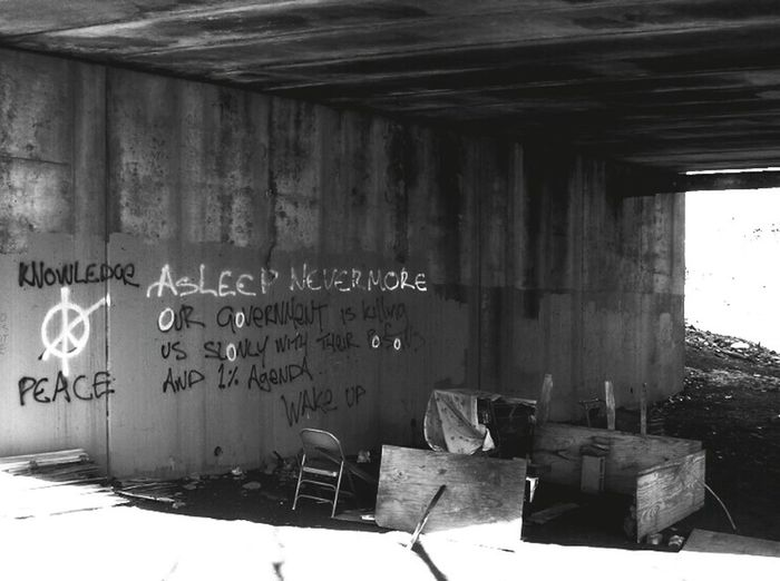 the truth beneath our streets....allentown pennsylvaniaBlack & White Homeless Urban Decay Notes From Underground Political Street Art Graffiti Art Allentown Pennsylvania