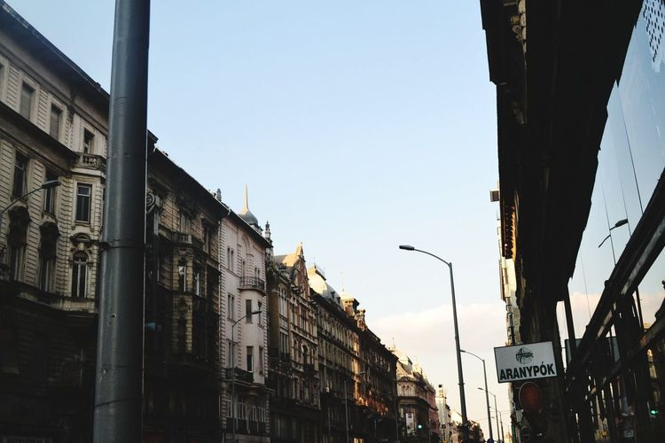 Street. #photography #travel # Love #happy #budapest #view City Clear Sky Sky Architecture Building Exterior City Street Avenue
