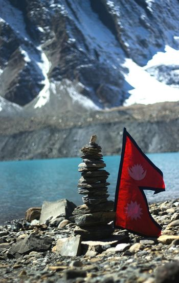 Tilicho Lake 4919m One Of The Most Exciting Trip . Mountain Red Water No People Outdoors Sky Landscape Day Nature Snow Perspectives On Nature