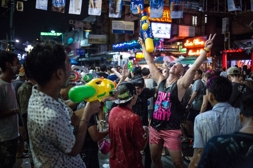 Songkran (Thai New Year) celebrations in Bangkok, Thailand Bangkok Banglamphu Buddhism Celebration Crowd New Year New Year Around The World Outdoors Public Space Songkran Songkran Festival Songkran Thailand South East Asia Street Photography Streetphoto Streetphoto_color Streetphotographer Streetphotography Thai New Year Thailand Tradition Traditional Festival Travel Photography Water Festival Water Fight