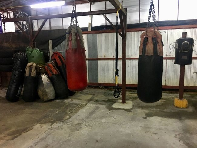 Thai Boxing  Hanging Indoors  No People Coathanger Day