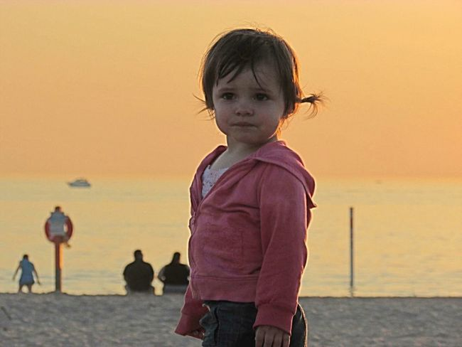 Summer Memories 🌄 Sunset Sunset_collection Beach Granddaughter Enjoying Life Love Family Missing Summer My Happy Place  Lake Michigan Michigan Pure Michigan United States