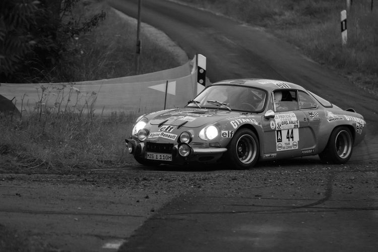 Black And White Car Eifel Rallye Motorsport No People Rallye Rallye Car Renault Alpine