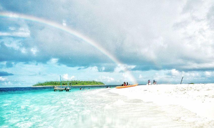 Islandlife Rainbows Beautiful Day Holidays ☀ Beachphotography VirginIslands Eyecamphotography baa atoll Popular Photos Beautiful Beautiful Nature