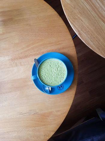 Green Tea Latte Breakfast Breakie Morning Onthetable Eyembestshots EyeEmNewHere EyeEmReady Latte High Angle View Food And Drink Table Indoors  No People Wood - Material Healthy Eating Day Close-up EyeEm Ready