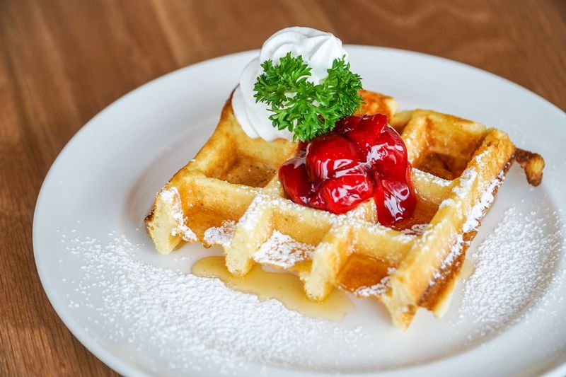 Waffle on top