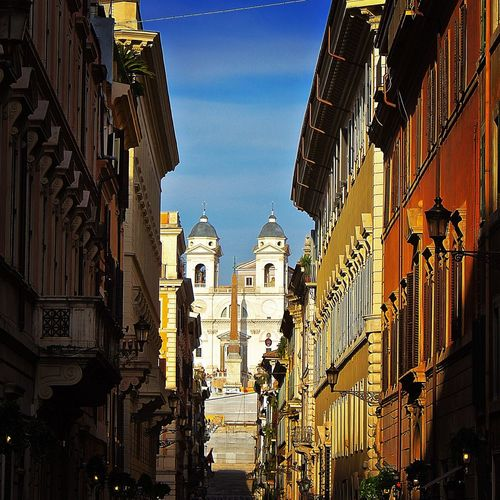 The Journey Is The Destination Straight...Rome One The Way Piazza Di Spagna Via Fontanella Borghese Rome Italy Roma Hidden Gems  City Life Travel Destinations Tourism History Architecture Rome Romestreets