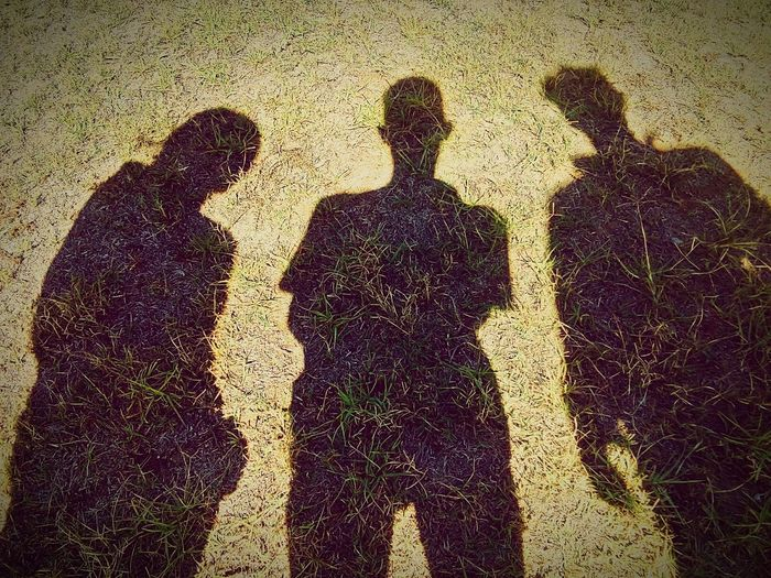 Focus On Shadow High Angle View Sunlight Real People Togetherness Close-up Greenery Grass Reflecting Shadow LSFphghy EyeEm Best Shots 3FRIEND'S