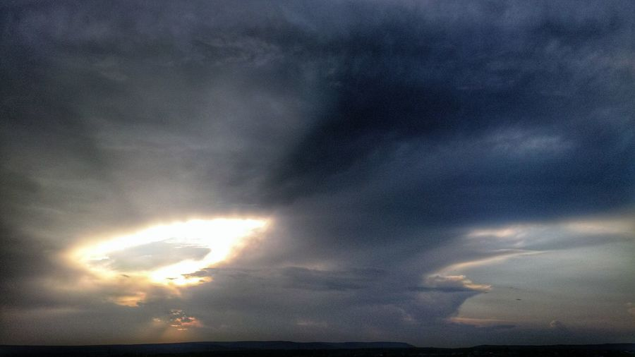 After trail riding saw it. Like aliens attack earth. Sun Light Sun Clouds Sun And Clouds