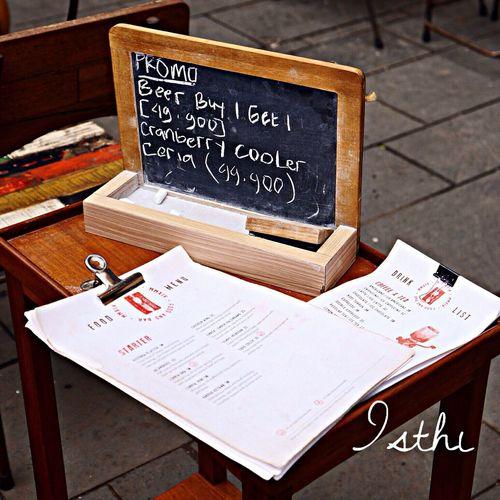Menu Restaurant Beer Chalk Board