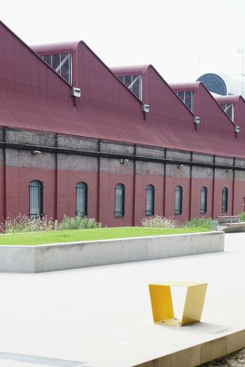 Industrial Building  Red Built Structure Architecture Outdoors No People Sky Day LandscapeArchitecture Urbanpark Thegoodsline Industrialroof Sawtooth Ultimo