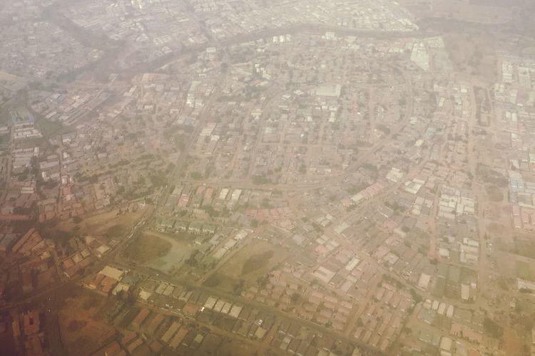 Abuja, Nigeria in Harmattan season Harmattan From An Airplane Window Abuja Nigeria Arik®