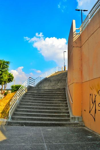 Escaleras Sky And Clouds City Arquitecture Lovephotography  Nikonphotography Traveling Streetphotography That's Me