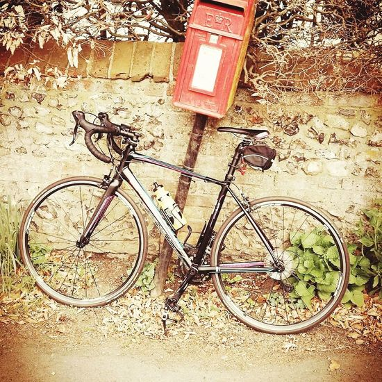 too large for the post box Bicycle Transportation Mode Of Transport Day Outdoors Sand No People