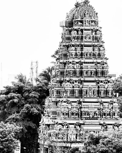 Indianphotographer Indiangod Indiantemples Architecture Built Structure Spirituality Religion Place Of Worship Tourism Architectural Feature Outdoors Temple - Building Famous Place Indiantemple LordShiva ThreeEyes Chennaiphotographers Chennai B&W Collection History Sky Tall - High TravellerTravel Destinations KARANISHWARAR