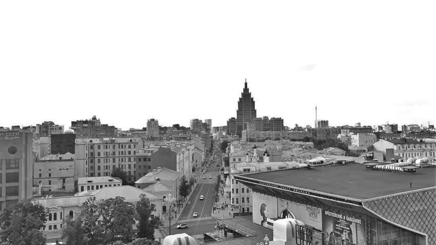 Moscow June 2018 Buildings & Sky Building And Sky Panoramic View Panoramic Sky Panoramic Photography Panoramic Panorama Skyline Intersection Urban Photography Urban Landscape Urban Geometry Urbanphotography Urban Skyline City View  Moscow City Street cityscapes Cityscape Black & White Photography Black&white Black And White Photography Building Exterior Architecture Built Structure City Sky Building Cityscape Road