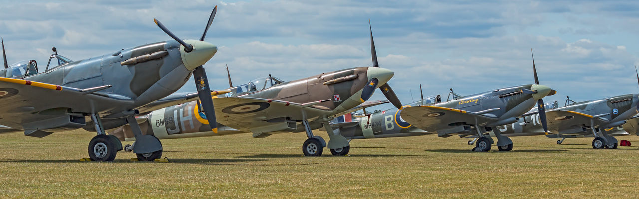 Spitfires at rest Battle Of Britain Duxford Legends Spitfire Supermarine Supermarine Spitfire WWII WwII Airplane WWII Planes