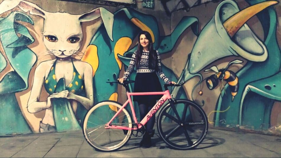 That's Me Fixie Fixie Life  Fixed Bike w/ Mavka ^^, Bike Life City Bikes Fixedgirl Fixieporn Aventonbikes Aerospoke