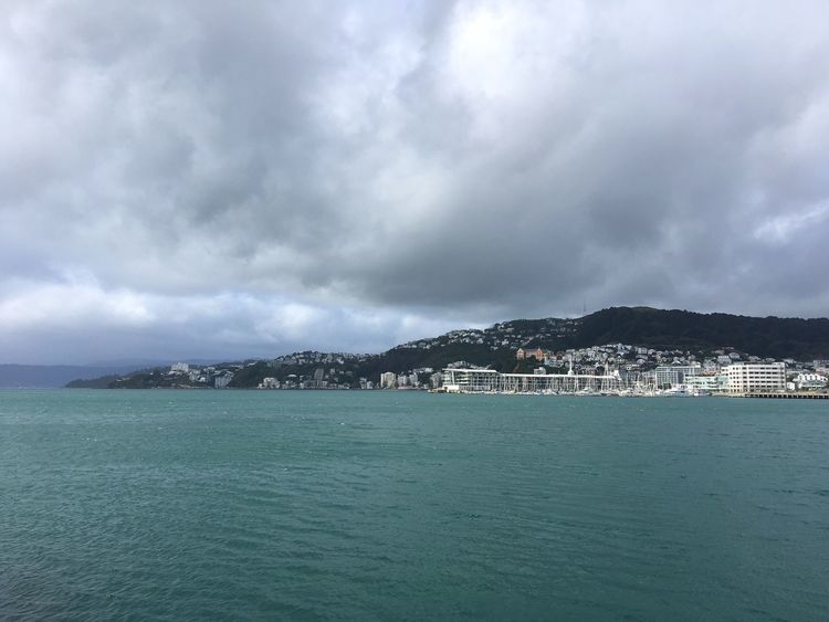 Wellington Harbour on an overcast day Sea Sky Water Cloud - Sky Waterfront Outdoors Wellington Harbour Harbour Overcast Skies Overcast