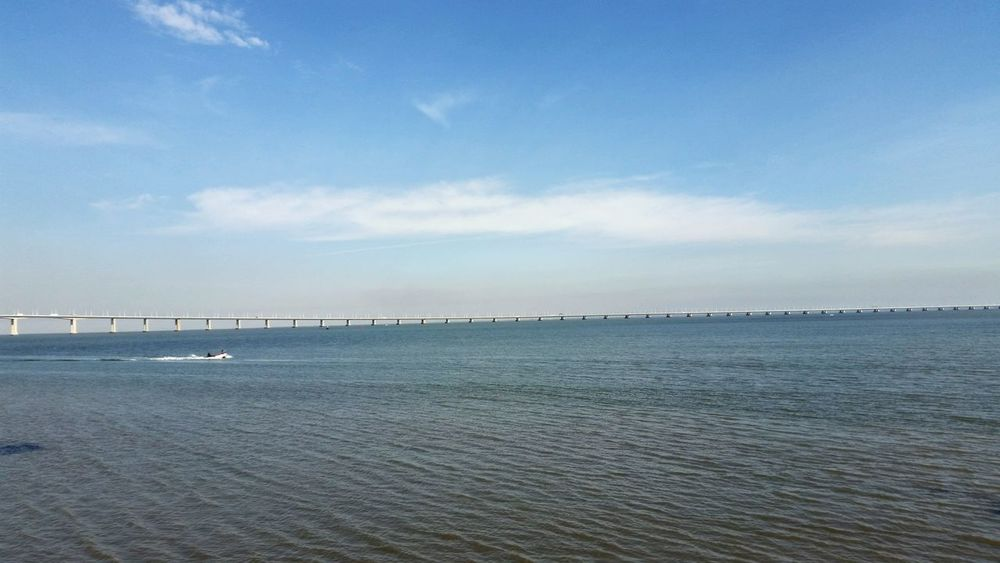 Ponte Vasco Da Gama Taking Photos Rio Tejo Bridge Deceptively Simple River I Love My City Sky And Clouds River And Sky Portugal Shades Of Blue Landscapes With WhiteWall