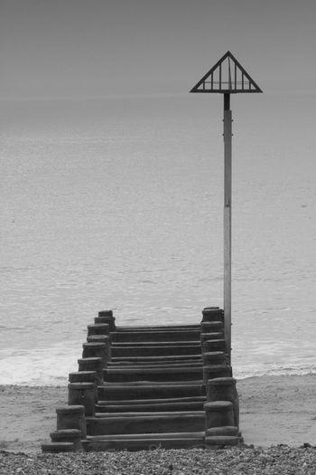 Beach Blackandwhite Hayling Island  Jetty Marker Sea Stones EyeEmNewHere