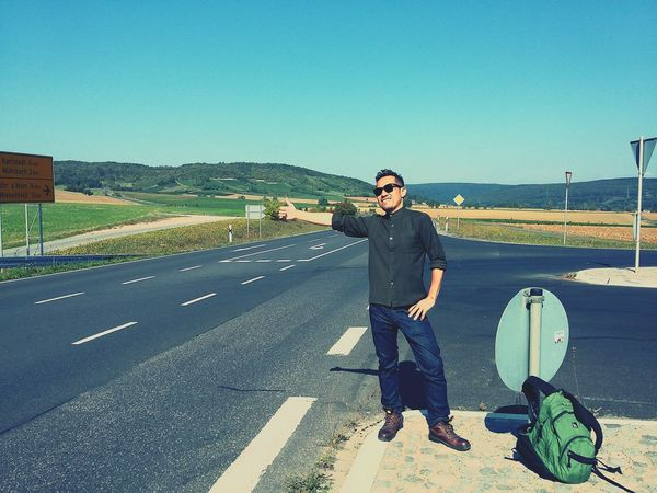my journey has just begun. Roadtrip Journey Hitchhiking Germany
