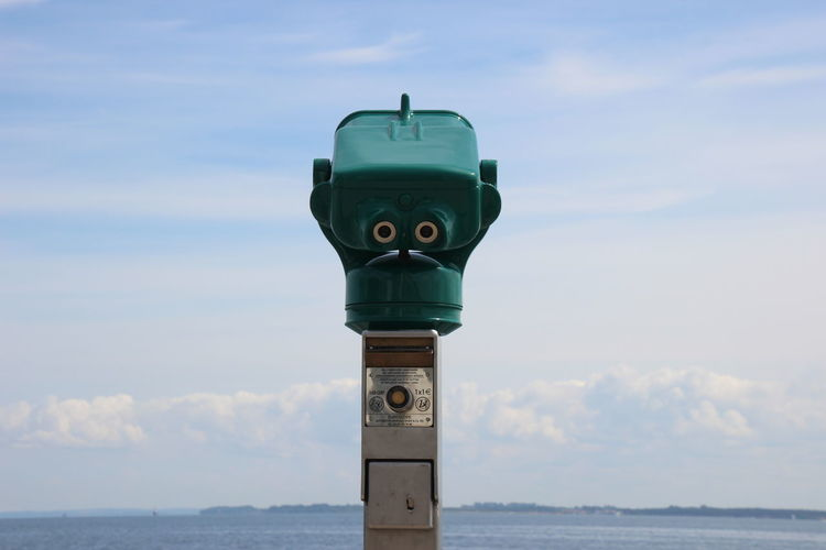Close-up Cloud - Sky Coin-operated Binoculars Day Horizon Over Water Nature No People Outdoors Scenics Sea Sky Water