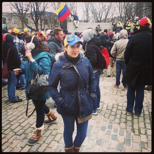 Desde Dublin decimos presente los venezolanos NoEstamosSolos SOSVenezuela 22F