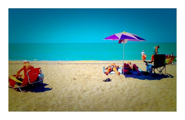 beautiful Florida beach day Water Sea Full Length Friendship Sitting Men Beach Togetherness Sand Relaxation Umbrella Beach Umbrella Canopy Outdoor Cafe Shelter Thatched Roof Sun Lounger Lounge Chair Parasol