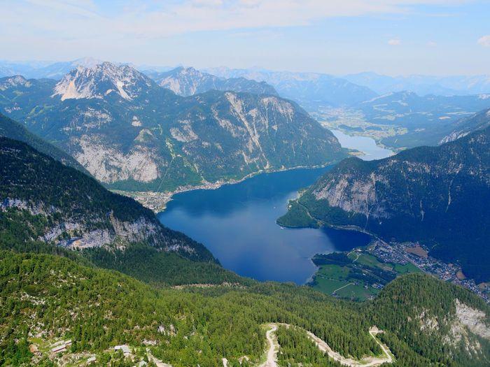 View from krippenstein to hallstätter lake