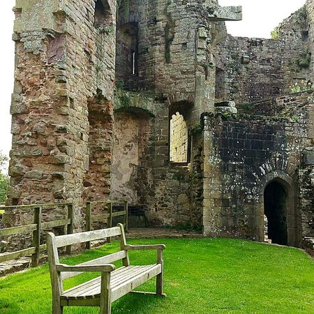 Built Structure Architecture History Ancient Old Ruin Raglan Raglan Castle Castle Castle Ruin Castle Ruins Wales❤ Wales Bench Bench Seat
